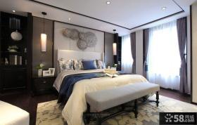 中式风格时尚主卧室效果图