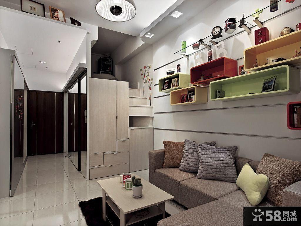 20平米单身公寓室内设计 - 58装修效果图