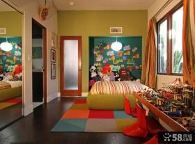 经典儿童房背景墙装修效果图大全2012图片
