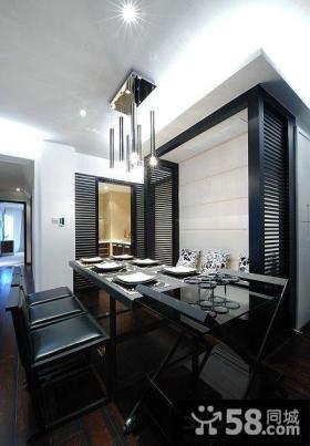 现代家装餐厅吊顶装修效果图