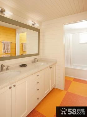 卫生间地板砖图片 卫生间隔断装修效果图