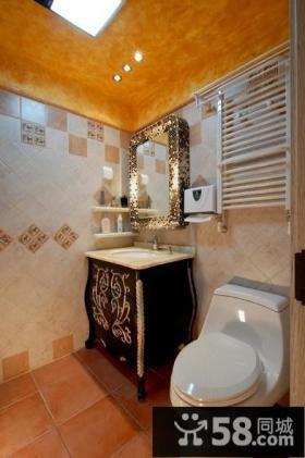 东南亚风格洗手间装修效果图大全2013图片