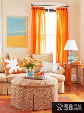 客厅窗帘效果图 2012最新欧式客厅窗帘图片