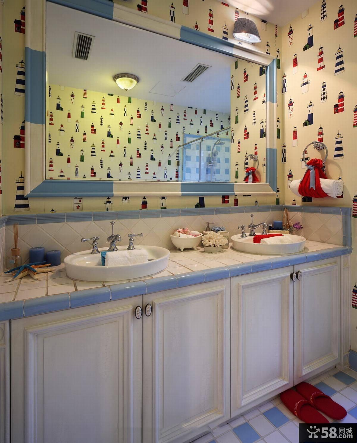 地中海风格设计别墅室内卫生间图片