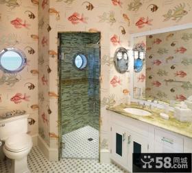 浪漫温馨地中海风格装修卫生间效果图