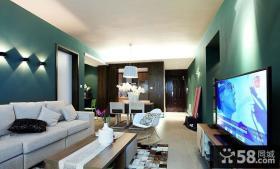 新古典风格90平米两室一厅装修效果图大全2014