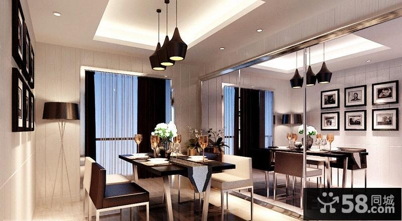 现代风格餐厅吊顶图