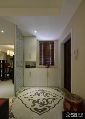 135平米中式现代三居室设计装饰效果图