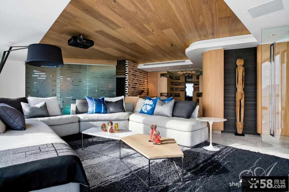 别墅客厅沙发效果图片
