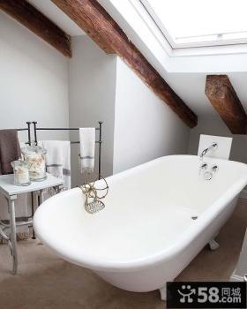 三室两厅简欧风格家庭卫生间装修效果图大全2014图片