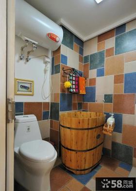 地中海风格室内家居卫生间图片大全