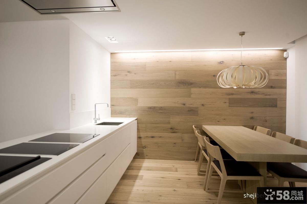 130平米简约素雅的餐厅装修效果图