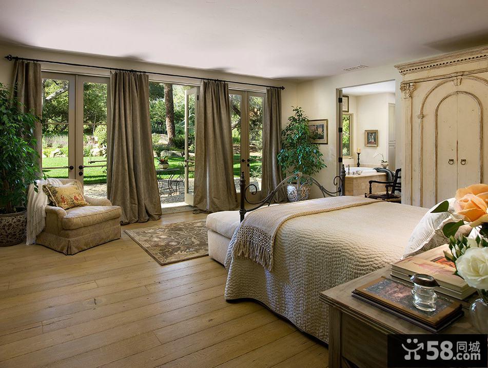 北欧装修设计卧室窗帘效果图大全