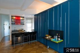 50平米小户型蓝色客厅装修效果图