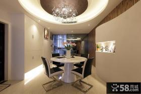 现代风格三室两厅餐厅吊顶装修效果图