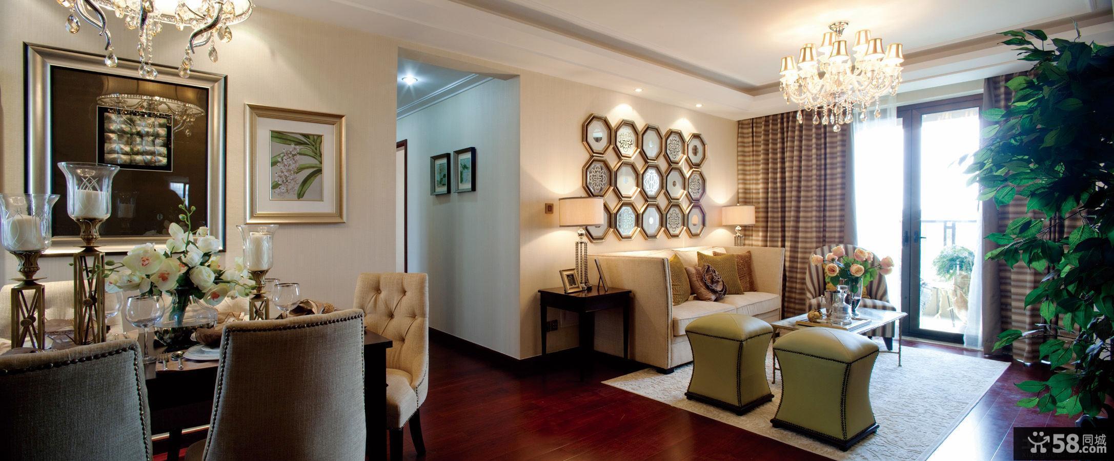 最新2014新古典风格三居室装修效果图