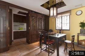 中式风格三室两厅书房装修设计