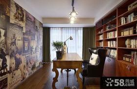 美式家居书房装修图片大全2014