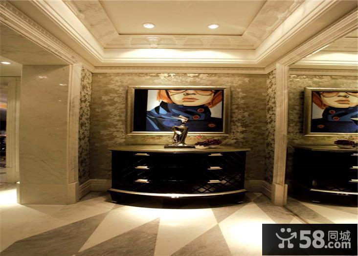 简约客厅瓷砖背景墙