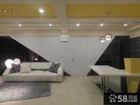 现代黄色点缀客厅