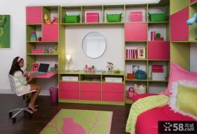儿童房书架装修效果图