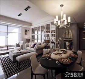 家装餐厅吊灯装饰效果图片欣赏