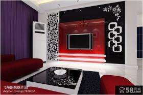 现代客厅电视墙设计效果图片