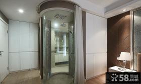 宜家现代室内浴室卫生间家装效果图