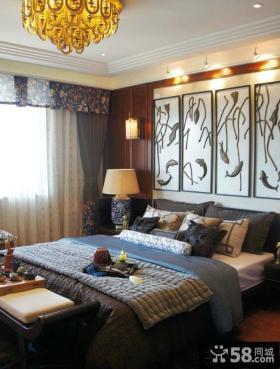 中式精装公寓卧室图片
