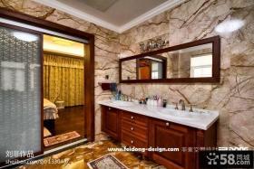 主卧室卫生间瓷砖效果图