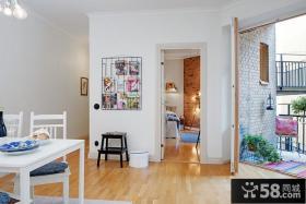 北欧风格两室两厅公寓装修效果图