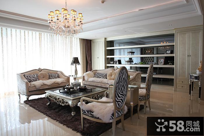 中式客厅背景墙纸