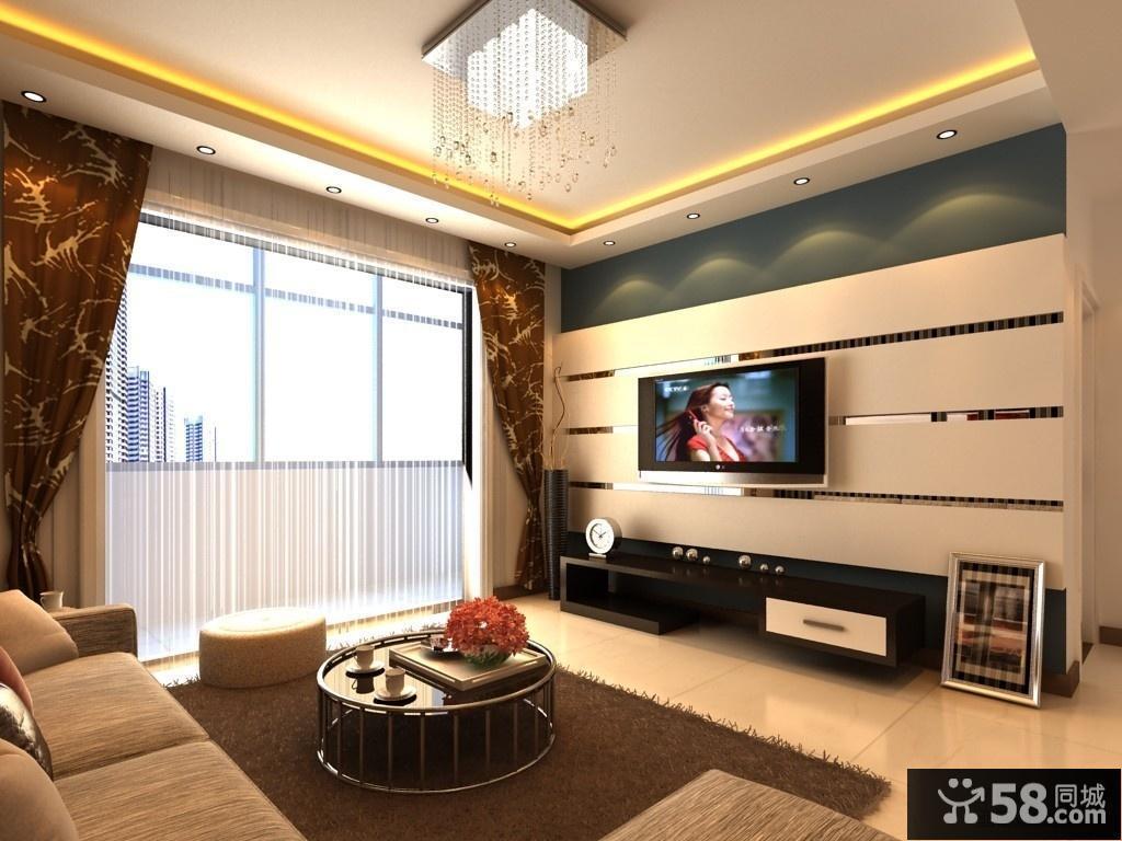 现代简欧风格电视背景墙