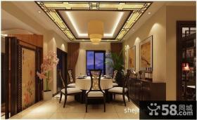 中式餐厅装修效果图大全2012图片