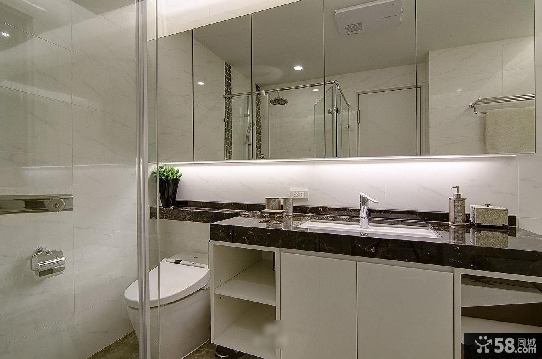 卫生间洗手台镜台装修