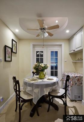美式现代家居三室一厅装修效果图片