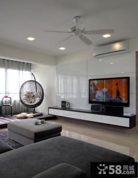 现代客厅电视墙装修效果图欣赏