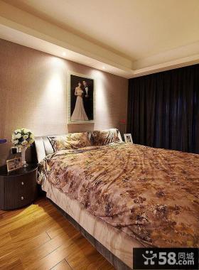 现代简约风格婚房卧室效果图
