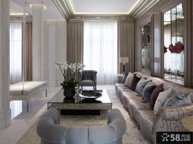 现代欧式客厅装修效果图片大全