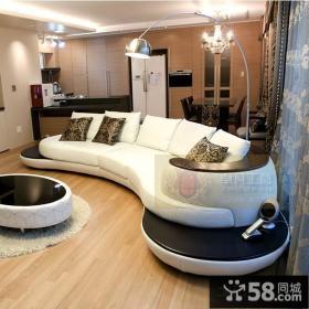 客厅摆放沙发图