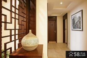 中式古香古色的玄关装修效果图