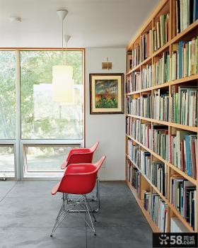 别墅书房书架装修设计图片
