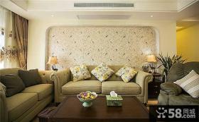 清新复古美式客厅装饰