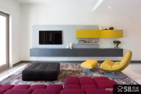 客厅装修效果图欣赏 现代简约客厅电视背景墙装修效果图