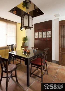 中式一居室装修餐厅图片欣赏