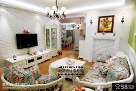 家庭客厅沙发图片