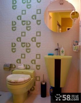 超小卫生间壁纸装修效果图