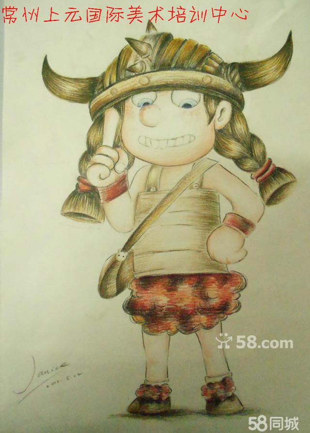 暑期+常州小孩子学画画哪里好儿童漫画国画书法培训